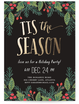Tis the Season Holiday Party Invitations