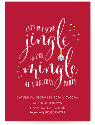 Jingle In Our Mingle Holiday Party Invitations