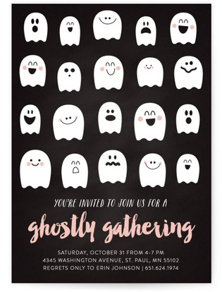 Ghostly Gathering Holiday Party Invitations