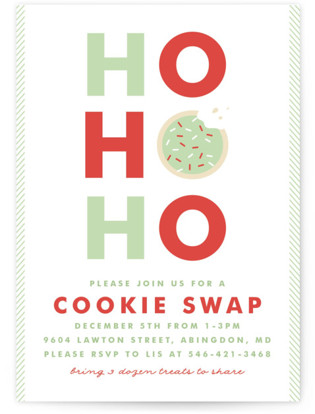 Santa's Cookies Holiday Party Invitations