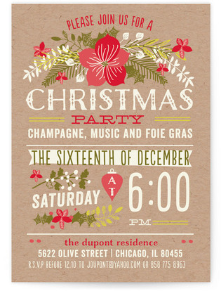 Christmas Party Holiday Party Invitations