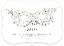 Holiday Mask Holiday Party Invitations