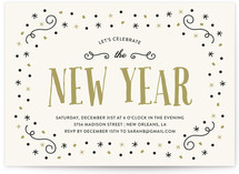 Sprinkled Confetti Holiday Party Invitations