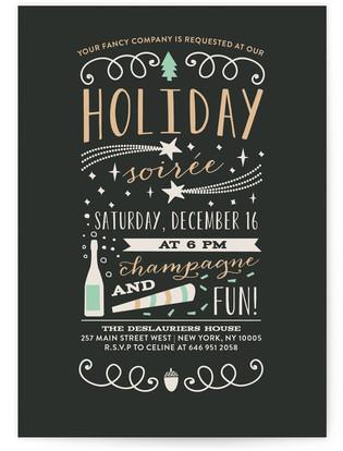 Fun Holiday Soiree Holiday Party Invitations