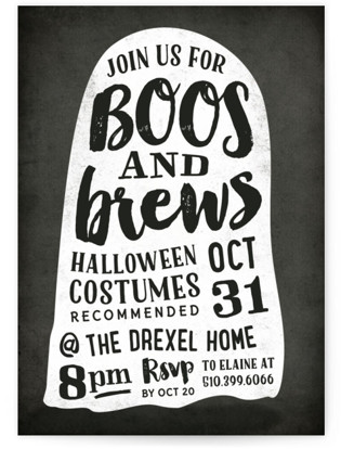 Boos and Brews Holiday Party Invitations