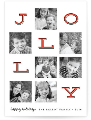 Jolly Squares Holiday Postcards