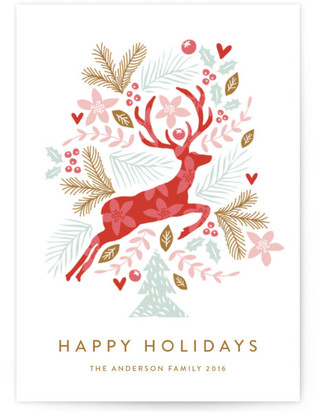 Jumping Reindeer Holiday Postcards