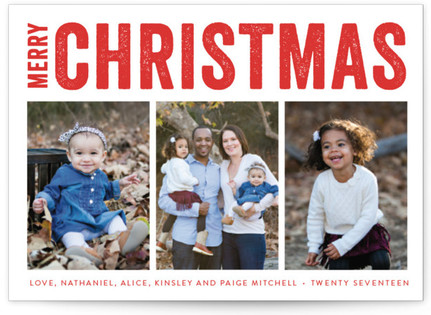 Merry Triptych Holiday Postcards