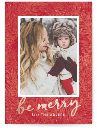 Textured Pine Holiday Postcards