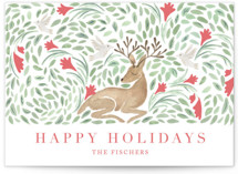 Deer Holiday by Hallie Fischer