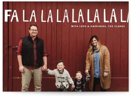 Handlettered Fa La La La La Holiday Postcards