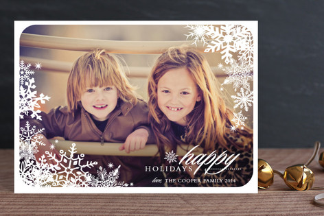 Snowflake Window Holiday Postcards