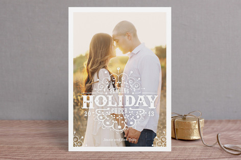 White Christmas Holiday Postcards