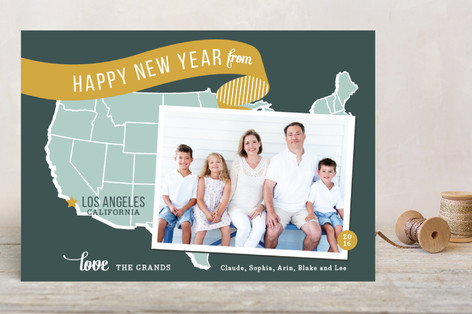 Holiday Map - West Coast Holiday Postcards