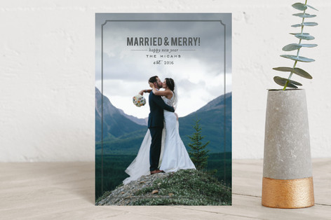 Married and Merry Holiday Postcards