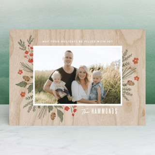 Wooden Frame Holiday Postcards