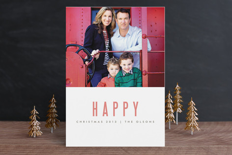 We're Happy Holiday Postcards