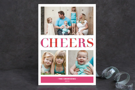 Deconstructed Cheers Holiday Postcards