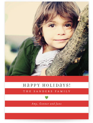 Bright Stripes Holiday Postcards