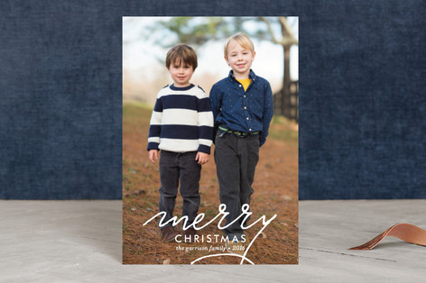 Merry Swoosh Holiday Postcards
