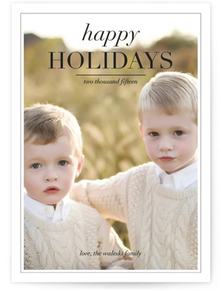 Editorial Holiday Postcards