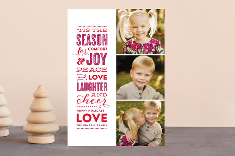The Festive Type Holiday Postcards