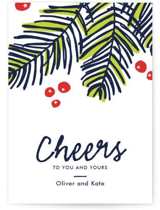 Modern Pine Holiday Postcards