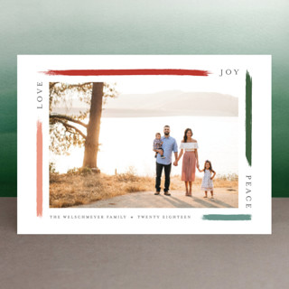 holiday brushed Holiday Postcards