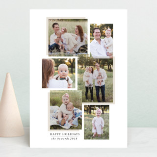 layered effect Holiday Postcards