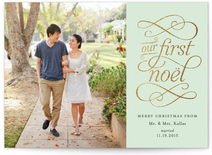 Golden Noel Holiday Postcards