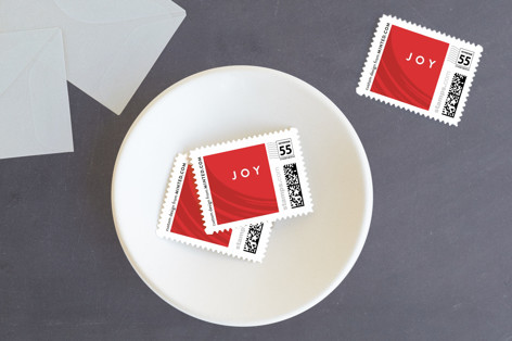 Peppermint Holiday Stamps