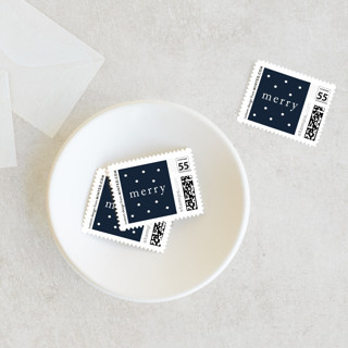 White Christmas Holiday Stamps