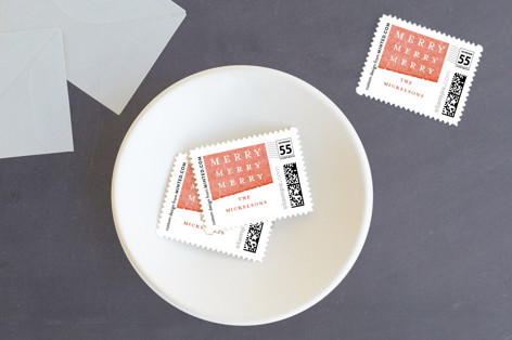 Candy Stripes Holiday Stamps