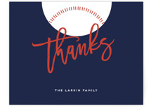 Baseball Flat Baby Shower Thank You Cards