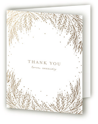 Botanical Filigree Foil-Pressed Baby Shower Thank You Cards