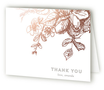 Elegance Illustrated Foil-Pressed Baby Shower Thank You Cards