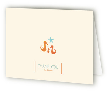 Sweet Seahorses Baby Shower Thank You Cards