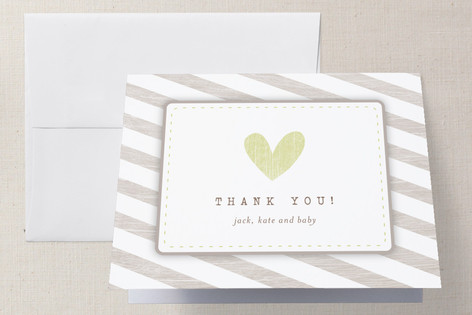 Baby Makes Three Baby Shower Thank You Cards