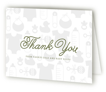 Baby Icons Baby Shower Thank You Cards