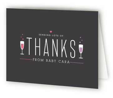 Sip Sip Hooray Baby Shower Thank You Cards