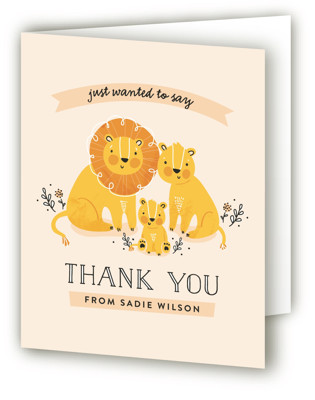 Little Cub Baby Shower Thank You Cards