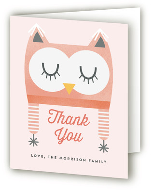 Baby Owl Bonnet Baby Shower Thank You Cards