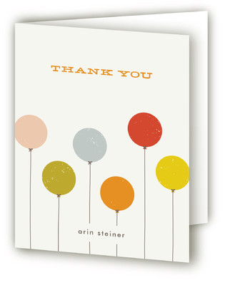 Colorful Balloons Baby Shower Thank You Cards