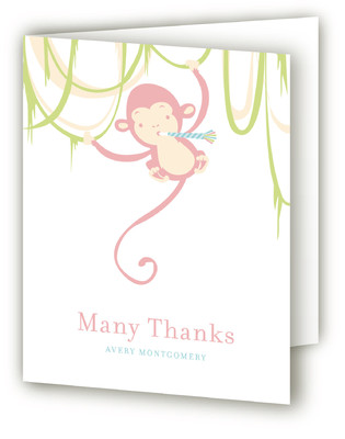 Monkey Around Baby Shower Thank You Cards