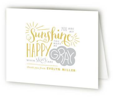 Sunshine Baby Shower Thank You Cards