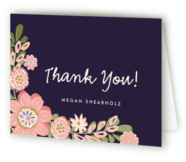 Sweet Baby Girl Baby Shower Thank You Cards