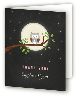 A Little Night Owl Baby Shower Thank You Cards