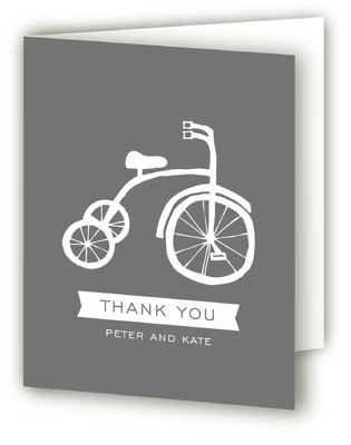 Baby Bicycle Baby Shower Thank You Cards