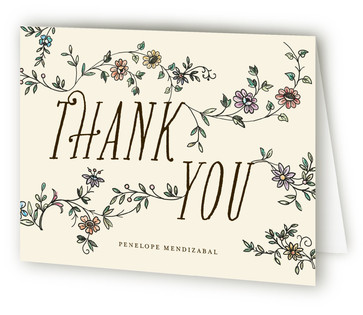 A Mother's Birth Baby Shower Thank You Cards