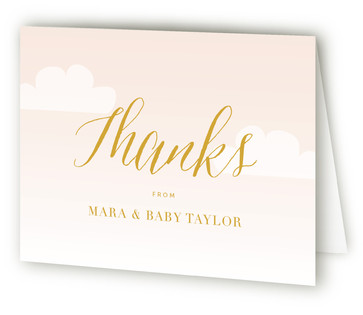 Soft Clouds Baby Shower Thank You Cards